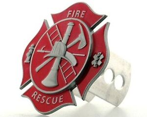 Firefighter 3-D Metal Hitch Cover (Maltese Cross) Occupational