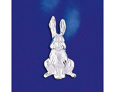 Sterling Silver Bunny Pendant Rabbit Italian Design Easter Charm 925 Italy New ()
