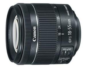 Canon EF-S 18-55mm f/4-5.6 IS STM with UV filter/lens protector