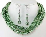 Multilayer Glass Bead Necklace