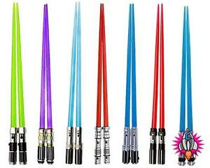 COOL-NEW-OFFICIAL-STAR-WARS-NOVELTY-RED-BLUE-GREEN-LIGHTSABER-CHOPSTICKS