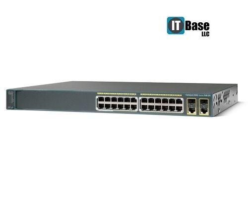 Cisco 2960 24pcl Ws-c2960-24pc-l 24 Ethernet 10/100 Poe Switch C2960-lanbasek9