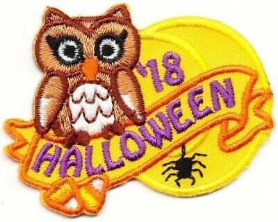 BOY GIRL SCOUT HALLOWEEN '18 2018 PARTY PATCH  CREST BADGES CLUB - Girl Scout Halloween Party