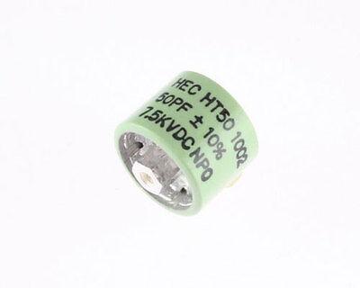 50pf 7500v Ceramic Transmitting Doorknob Capacitor 7.5kv Dc 7500 Volts Ht50