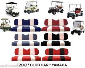 EZGO, CLUB CAR, YAMAHA Golf Cart TWO TONE Seat Cover Sets