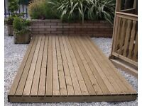 Garden decking made and installed to order