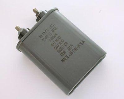 1x 4mfd 600vdc Hermetically Sealed Oil Capacitor 4uf 600v 600 Volts Dc Cde