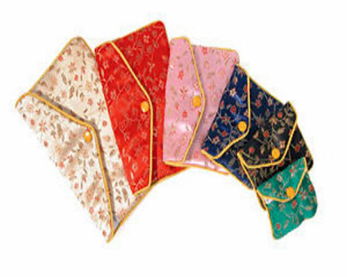 """12 Assorted Fancy Chinese Silk Pouch Bags 3"""" x 2.5"""" #2"""