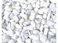 White marble stones/chips