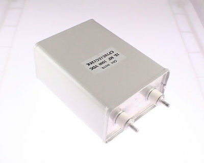 New 12uf 1000vdc Paper Foil Capacitor Non Inductive Oil Impregnated Made In Usa