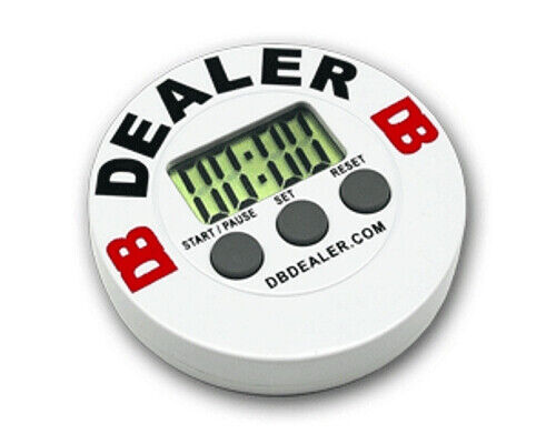 DB Digital Timer Poker Dealer Button with LCD Display for Blinds Interval Timing