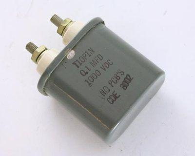 1x .1uf 1000v Oil Hermetically Sealed Capacitor 1kv Dc .1mfd Cde High Voltage