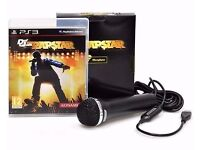 DEF JAM RAPSTAR + MICROPHONE FOR PS3 ! - ONLY £5 ! - BRAND NEW !!