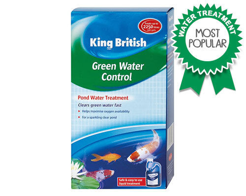 King British Pond Green Water Control Clean Clear Water Algae Treatment 250ml
