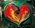Abstract Heart Painting