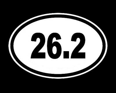 (26.2 Marathon vinyl sticker decal oval runner race)