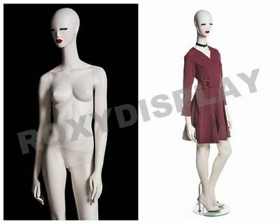 Female Fiberglass Matte Cream Mannequin Eye Catching Abstract Style Mz-julia1