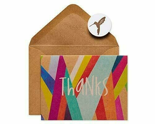 NEW Papyrus *Thanks* Set Thank You Cards, Envelopes, Geometric - Boxed, 16 Ct!