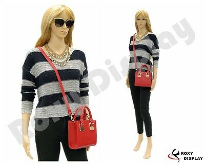 Female Unbreakable Plastic Mannequin Display Dress Form Ps-g2free Wig