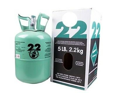 New R-22 Virgin Refrigerant Factory Sealed 5 Lbs. Free Same Day Shipping
