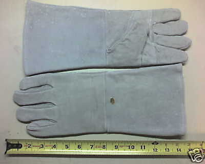 Heavy Duty Leather Welding Work Gloves Lined - New