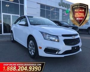 2016 Chevrolet Cruze LT| Cloth| CD Player| Low KM| Remote Start