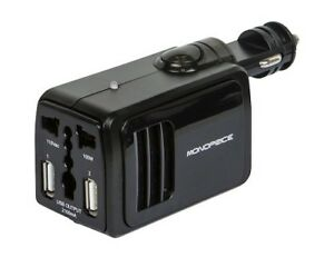 Power Inverter : 100W/2100mA : 1 x AC Outlet + 2 x USB
