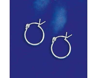 12mm Small Sterling Silver Hinged Hoop Earrings 2011