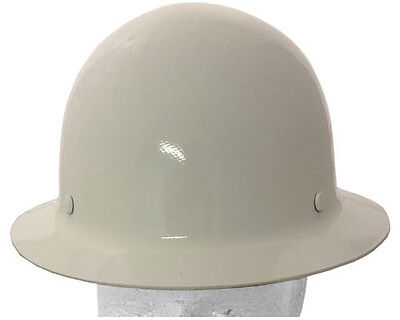 Msa Skullguard Full Brim Hard Hat With Staz-on Suspension White Color