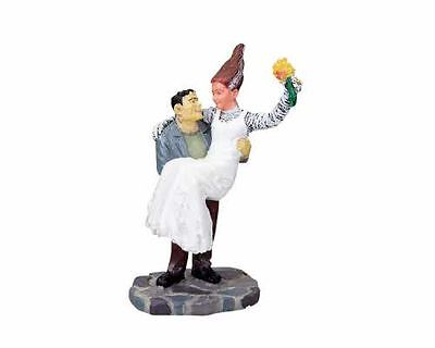 Lemax Spooky Town Halloween Bride and Monster RETIRED 82464 - Halloween Town Monster