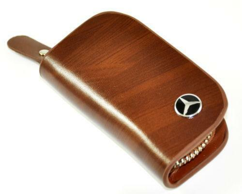 Mercedes leather key chain ebay for Mercedes benz key holder