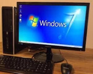 """Dual Core H 240gb Hard Drive 8gig Ram Windows 7 Wi-Fi Computer with free 22"""" monitor Keyboard Mouse $225 Only"""