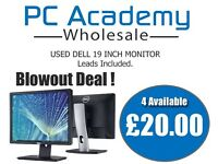 Lowest Priced Used 19 Inch Widescreen or Square Monitor With Leads