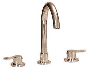 NEW Lenova B502BN Apogee Modern Widespread Bathroom Faucet with a Goose Neck Spout