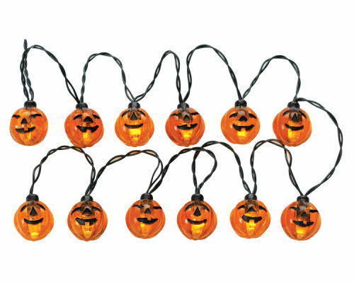 Lemax Spooky Town Lighted Pumpkin Garland String of 12 Lights - NEW