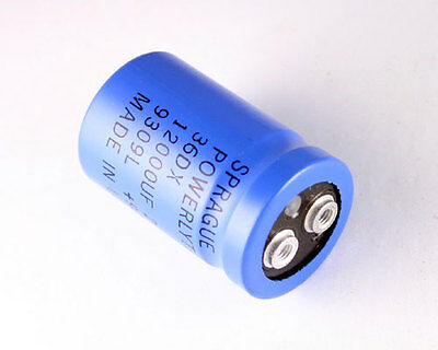Lot Of 3 Sprague 12000uf 25v Large Can Electrolytic Capacitor 36dx123f025aa2a