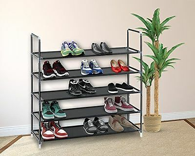 5/10 Tier Shoe Rack Wall Tower Cabinet Storage Organizer Home Holder Shelf