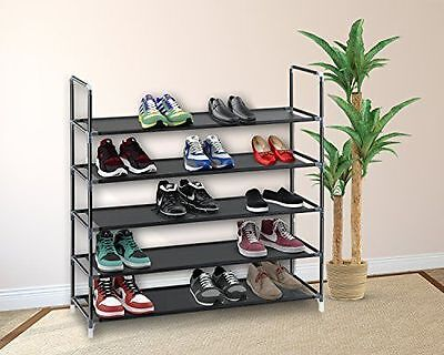 5/10 Tier Shoe Rack Wall Tower Cabinet Storage Organizer Hom