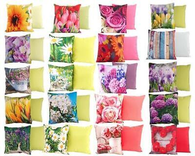 Outdoor Kissen Blumen wasserabweisend 45 x 45 cm Garten Deko Frühling