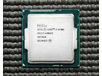 Intel i7 4790k for sale, compatible motherboard also available
