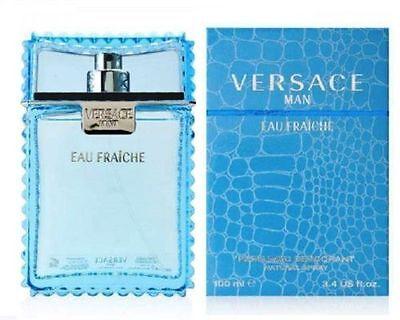 Versace Man by Versace 3.4 oz 100ml Eau Fraiche Deodorant Spray for Men NIB