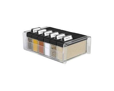 Emsa Gewürz-Kartei 6 Gewürze Spice Box schwarz/transparent 508456