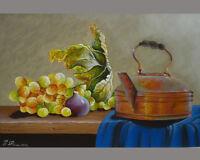 Quadro Dipinto Olio Su Tela Cm. 40x60 - Natura Morta - natura - ebay.it
