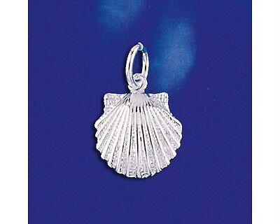 Sterling Silver Sea Shell Pendant Beach Ocean Sea Marine Charm Solid 925 Italy