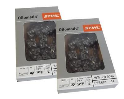 2 Stk. Stihl Sägekette 30cm 3/8 1,1 44 TG Pico Micro Mini Kette 3610 000 0044