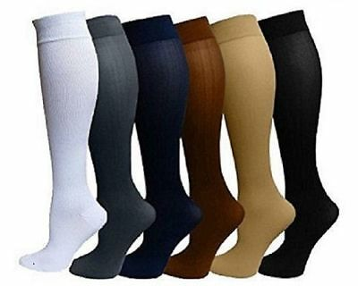 (6 Pack) Compression Socks Unisex S/M L/XL Mens Womans Performance Firm Support
