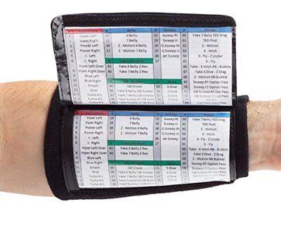 QB Wrist Coach Playbook Wristband Youth Black Heavy Duty Football Boys Flag Game