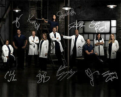 Greys Anatomy Season 10 Full Cast Signed Photo Autograph Reprint Ellen Pompeo