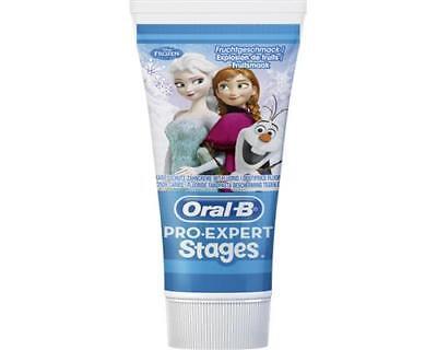 Oral-B PRO-EXPERT Stages Kinderzahncreme 75 ml Eiskönigin Zahnpasta Elsa Frozen