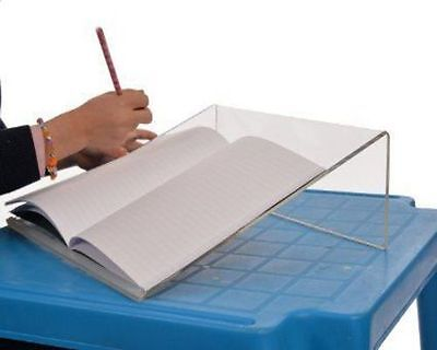 Clear Acrylic Writing Slope For Better Writing Posture 20 Degree Rubber Grip
